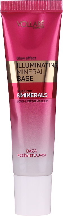Báza pod make-up s efektom žiarenia - Vollare Glow Effect Illuminating Mineral Base