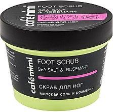"""Voňavky, Parfémy, kozmetika Scrub na nohy """"Morská soľ a rozmarín"""" - Cafe Mimi Foot Scrub"""