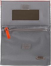 Dámska kozmetická taška 94644, šedo-oranžová - Top Choice Net — Obrázky N2