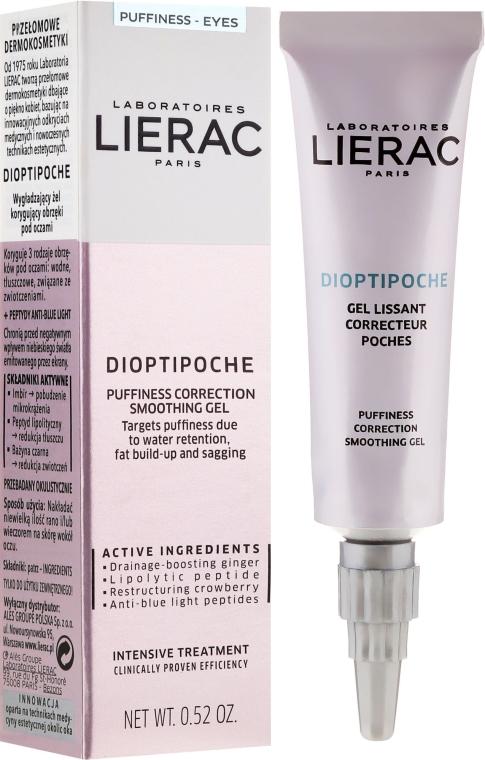 Upokojujúci gél pre kontúr očí - Lierac Dioptipoche Puffiness Correction Smoothing Gel