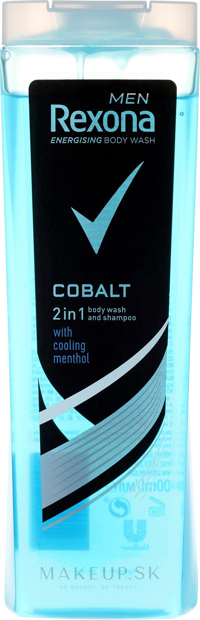 Šampónový sprchový gél 2v1 - Rexona Men Cobalt Shower Gel Body & Hair — Obrázky 400 ml