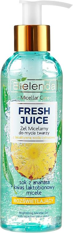 Micelárny gél pre žiarivosť pokožky - Bielenda Fresh Juice Micellar Gel Pineapple