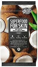 """Voňavky, Parfémy, kozmetika Čistiace utierky na tvár """"Kokos"""" - Superfood For Skin Moisturizing Facial Cleansing Wipes Coconut"""
