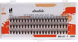 Voňavky, Parfémy, kozmetika Falošné mihalnice vo zväzkoch, C 12 mm - Ibra 20 Flares Eyelash Knot Free Naturals