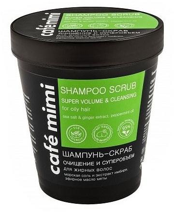 """Šampónový scrub """"Super objem"""" - Cafe Mimi Scrub Shampoo"""