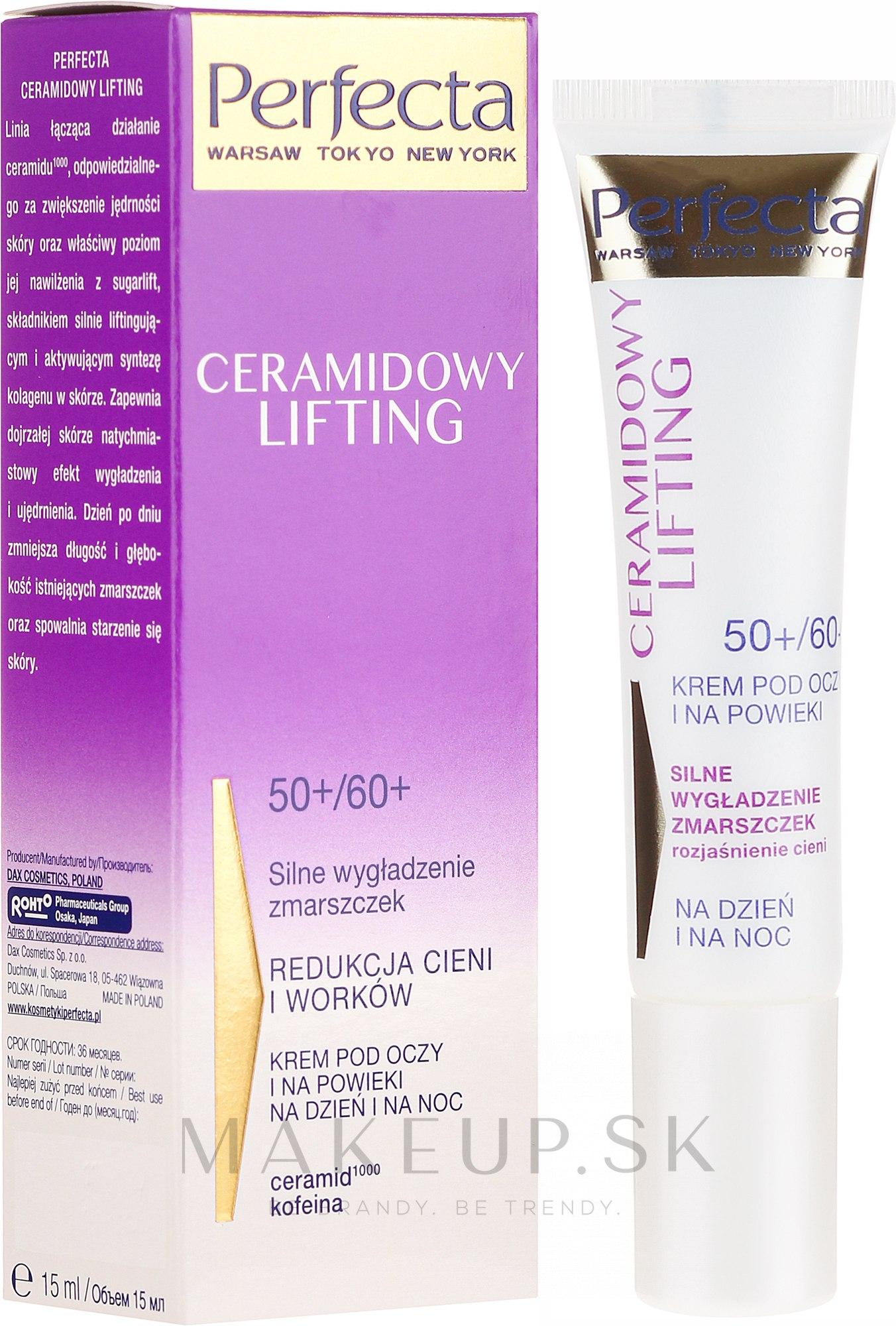 Krém na viečka - Perfecta Ceramid Lift 50+/60+ Eye Cream — Obrázky 15 ml