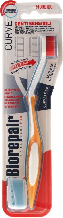 """Zubná kefka """"Perfektné čistenie"""", mäkká, oranžová s bielou - Biorepair Oral Care Pro — Obrázky N1"""