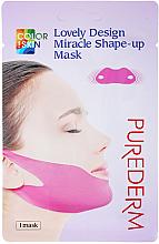 Voňavky, Parfémy, kozmetika Liftingová modelovacia maska na bradu a lícne kosti - Purederm Lovely Design Miracle Shape-up V-line Mask