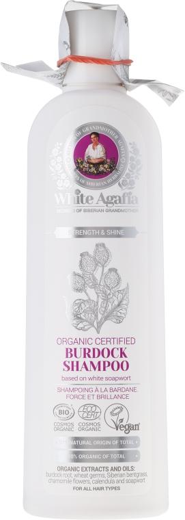 """Lopuchový šampón """"Posilnenie a lesk"""" - Recepty babičky Agafy White Agafia Burdock Shampoo"""