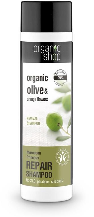 """Šampón na vlasy """"Obnovenie. Marocká princezná"""" - Organic Shop Organic Olive and Argan Oil Repair Shampoo"""