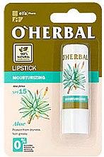 Voňavky, Parfémy, kozmetika Hydratačná hygienická rúž s extraktom z aloe - O'Herbal Moisturizing Lipstick With Aloe Vera extract SPF15