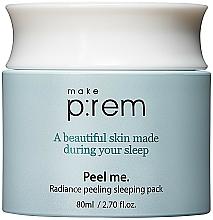 Voňavky, Parfémy, kozmetika Maska na nočný krém s PHA kyselinami - Make P rem Radiance Peeling Sleeping Pack