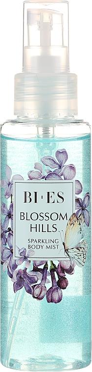 Bi-es Blossom Hills Sparkling Body Mist - Parfumovaná hmla na telo s trblietkami