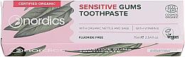 Voňavky, Parfémy, kozmetika Zubná pasta pre citlivé zuby - Nordics Sensitive Gums Toothpaste