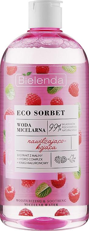 Micelárna voda s malinovým extraktom - Bielenda Eco Sorbet Moisturizing & Soothing Micellar Water