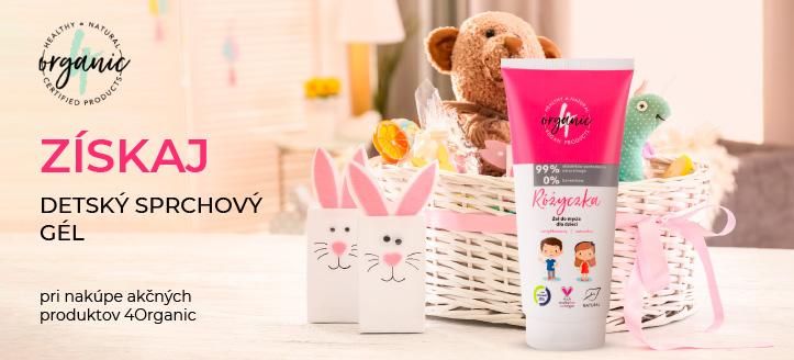 Kúp šampon-gél 4Organic a získaj detský sprchový gél ako darček