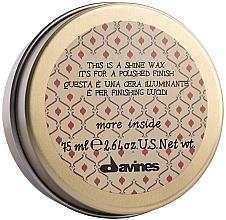 Voňavky, Parfémy, kozmetika Vosk pre lesk a uhladenie vlasov - Davines More Inside This Is A Shine Wax