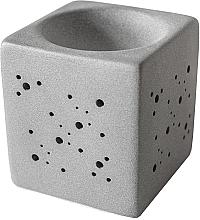 Voňavky, Parfémy, kozmetika Aromatická lampa štvorcová, šedá - Flagolie By Paese Cube Fireplace Grey