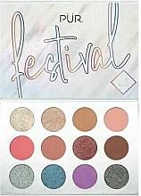Voňavky, Parfémy, kozmetika Paleta pigmentov na viečka - Pur Festival 2.0 12-Piece Pressed Pigments Palette