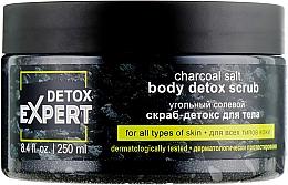 Voňavky, Parfémy, kozmetika Uhoľný soľný detoxikačný peeling na telo pre všetky typy pleti - Detox Expert Charcoal Salt Body Detox Scrub