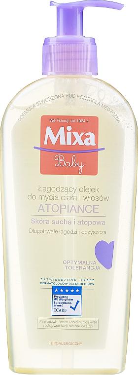 Upokojujúci čistiaci olej na vlasy a telo - Mixa Baby Atopiance Soothing Cleansing Oil For Body & Hair