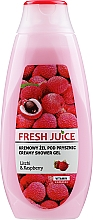"""Voňavky, Parfémy, kozmetika Krémový sprchový gél """"Liči a malina"""" - Fresh Juice Creamy Shower Gel Litchi & Raspberry"""