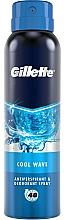 Voňavky, Parfémy, kozmetika Aerosólový dezodoračný antiperspirant - Gillette Cool Wave Antiperpirant Spray
