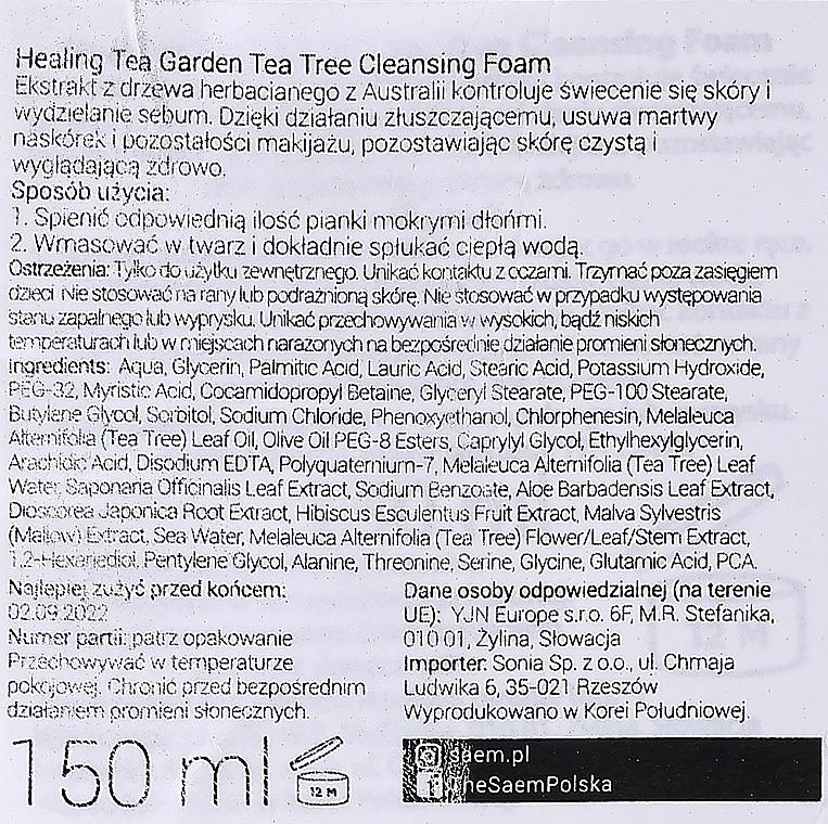 Pena na umývanie s extraktom z čajovníka - The Saem Healing Tea Garden Tea Tree Cleansing Foam — Obrázky N2
