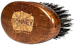 Voňavky, Parfémy, kozmetika Drevená kefka na bradu s prírodnými štetinami, tmavá - Ronney Professional Barber Small Brush