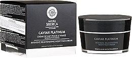 Voňavky, Parfémy, kozmetika Intenzívny revitalizačný nočný krém na tvár - Natura Siberica Caviar Platinum Intensive Rejuvenating Night Face Cream