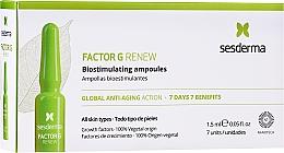 Voňavky, Parfémy, kozmetika Ampulky na tvár - SesDerma Laboratories Factor G Renew Biostimulating Ampoules Anti-Ageing Action