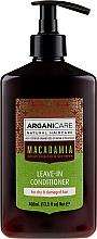 Voňavky, Parfémy, kozmetika Nezmazateľný kondicionér pre suché a poškodené vlasy - Arganicare Macadamia Leave-in Conditioner