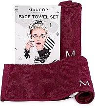 """Voňavky, Parfémy, kozmetika Cestovná sada uterákov na tvár, bordové """"MakeTravel"""" - Makeup Face Towel Set"""