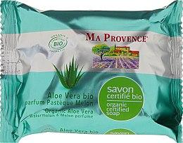 Voňavky, Parfémy, kozmetika Bio organické mydlo s Aloe Vera a vôňou vodného melónu a melónu - Ma Provence Organic Soap