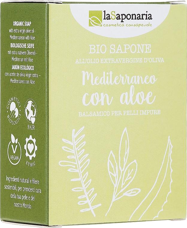 Mydlo s výťažkom z aloe a olivovým olejom - La Saponaria Aloe Soap