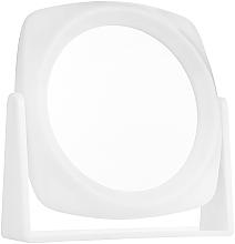 Voňavky, Parfémy, kozmetika Obojstranné kozmetické zrkadlo, biele - Titania