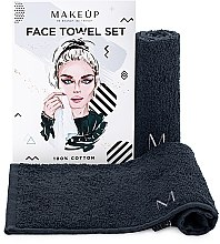"""Voňavky, Parfémy, kozmetika Cestovná sada uterákov na tvár, čierne """"MakeTravel"""" - Makeup Face Towel Set"""