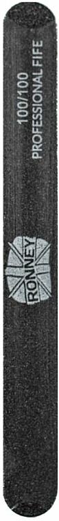Pilník na nechty, 100/100, čierny, rovný - Ronney Professional