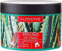Voňavky, Parfémy, kozmetika Telový peeling s organickým šťava z aloe - Aloesove