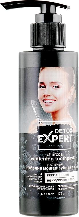 Uhoľná bieliaca zubná pasta - Detox Expert Charcoal Whitening Toothpaste