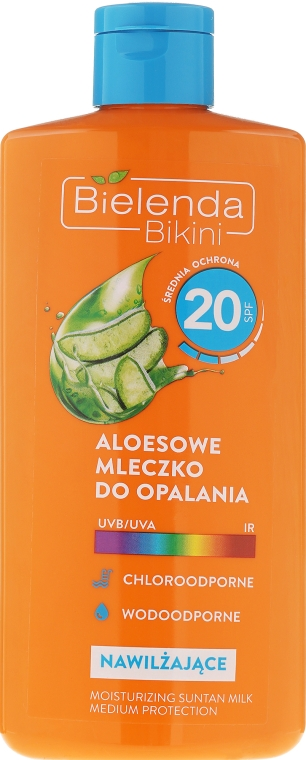Mlieko na opaľovanie s Aloe Vera - Bielenda Bikini Tanning Aloe Lotion SPF20