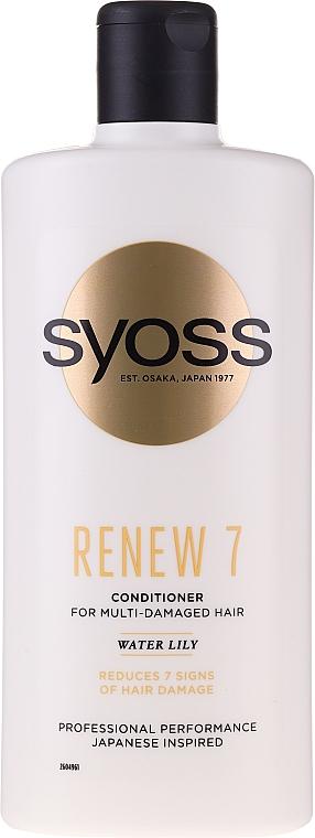 Kondicionér pre veľmi poškodené vlasy - Syoss Renew 7 Water Lily Conditioner For Multi-Damage Hair