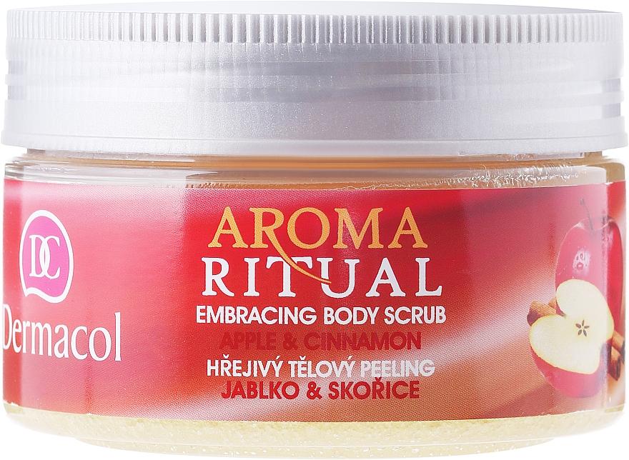 """Telový peeling """"Jablko a škorica"""" - Dermacol Aroma Ritual Body Scrub Apple & Cinnamon — Obrázky N2"""