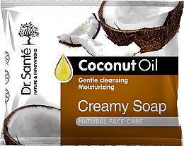 Voňavky, Parfémy, kozmetika Krémové mydlo na tvár s kokosovým olejom - Dr.Sante Cream Soap