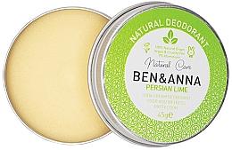 Voňavky, Parfémy, kozmetika Prírodný krémový dezodorant - Ben & Anna Persian Lime Soda Cream Deodorant