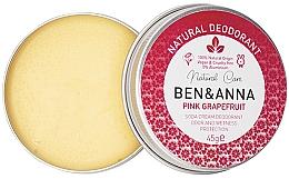 Voňavky, Parfémy, kozmetika Prírodný krémový dezodorant - Ben & Anna Pink Grapefruit Soda Cream Deodorant