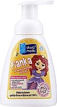 Voňavky, Parfémy, kozmetika Pena na intímnu hygienu pre deti, princezná 2 na žltom pozadí - Skarb Matki Intimate Hygiene Foam For Children