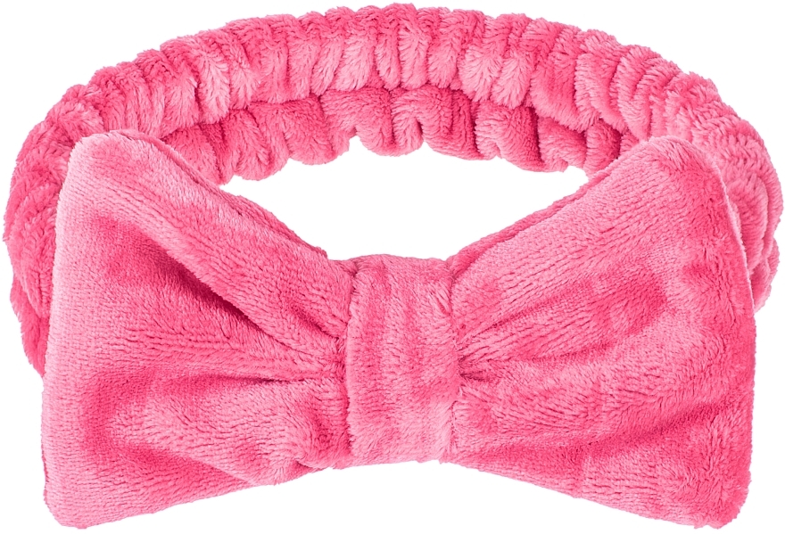 """Kozmetická čelenka na vlasy, malinová """"Wow Bow"""" - Makeup Raspberry Hair Band"""