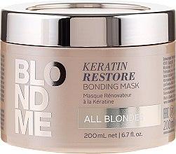 """Voňavky, Parfémy, kozmetika Maska-lepenie na vlasy """"Keratín využitie"""" pre všetky odtiene blond - Schwarzkopf Professional Blondme Keratin Restore Bonding Mask"""