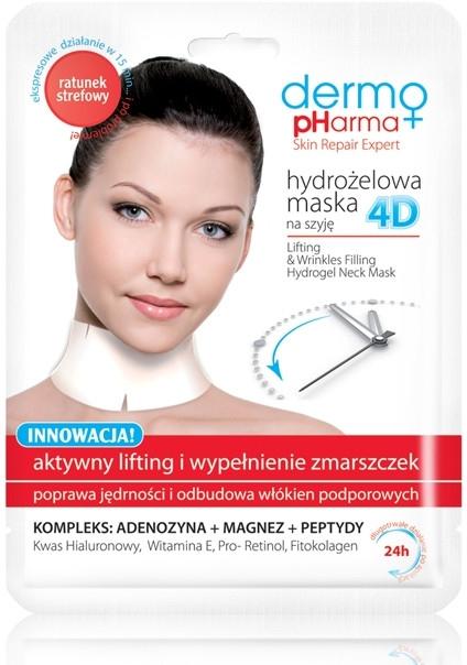 Maska na tvár - Dermo Pharma 4D Lifting & Wrinkles Filling Hydrogel Neck Mask